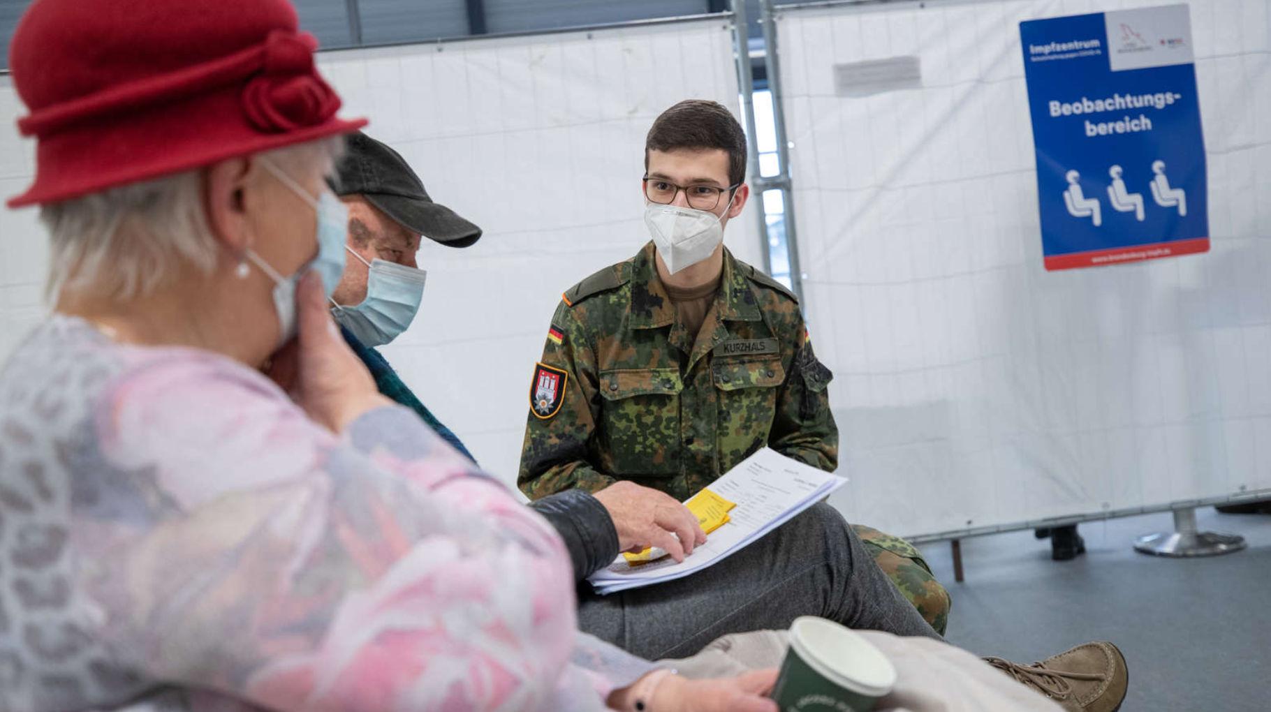 Amtshilfe der Bundeswehr in Impfzentren
